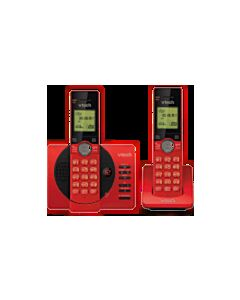 VTECH 2 HANDSET CORDLESS DIGITAL ANSWERING SYSTEM - RED