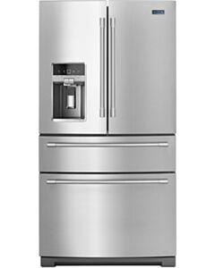 36- Inch Wide 4-Door French Door Refrigerator with Maytag® Steel Shelves - 26 Cu. Ft.