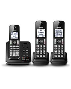 PANASONIC TRIPLE HANDSET HOME PHONE