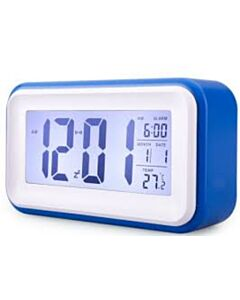 DIGITAL ALARM CLOCK WITH BLUE BACKLIT LCD