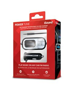 ISound Power Tune Transmitter With Built In Car Charger