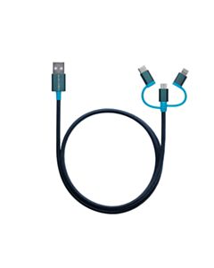 SMARTSYNC+ 3 in 1 CHARGE CABLE 1m