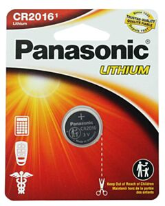PANASONIC LITHIUM COIN BATTERY CR2016PA1BL