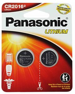 PANASONIC LITHIUM COIN BATTERY CR2016PA2BL