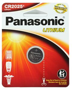 PANASONIC LITHIUM COIN BATTERY CR2025PA1BL