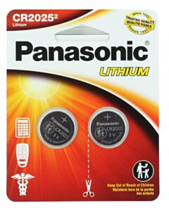 PANASONIC LITHIUM COIN BATTERY CR2025PA2BL