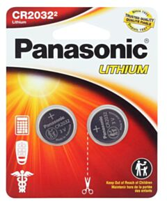 PANASONIC LITHIUM COIN BATTERY CR2032PA/2BL