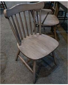 SOLID WOOD DINING CHAIR-ANTIQUE GREY
