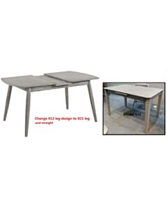 SOLID WOOD EXT. TABLE ANTIQUE GREY