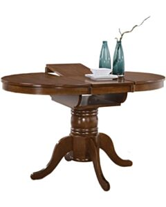SOLID WOOD PEDESTAL LARGE TABLE - WALNUT CHERRY