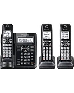 Panasonic 2-Handset w/TAD, DUAL KEYPAD