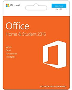 Microsoft Office 2016 Home & Student English Medialess PKC