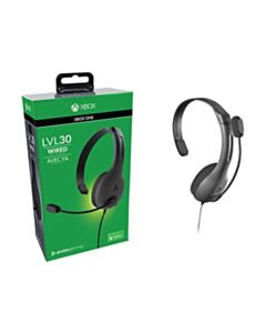 """LVL30 Wired Chat Gaming Headset for XBOX"""" - Grey"""