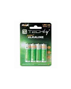 Techly AA Super Alkaline Batteries - 4pk