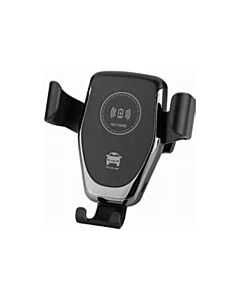 2 In 1 Dash & Vent Mount Automatic Grip Fast Wireless Charger With QC 3.0 Car Charger