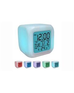 COLOR-CHANGING DIGITAL ALARM CLOCK