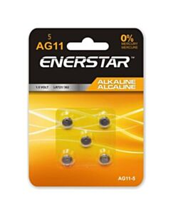 Enerstar Alkaline AG11 cell batteries; 5 pack