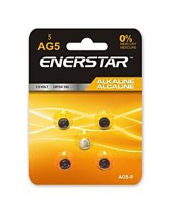 Enerstar Alkaline AG5 cell batteries; 5 pack