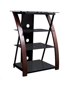 Wood glass audio stand, 4 shelves